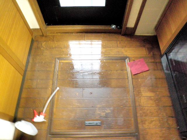 6:キッチン床面の染み